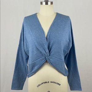 Kerisma Blue Cropped Twist Sweater Shrug